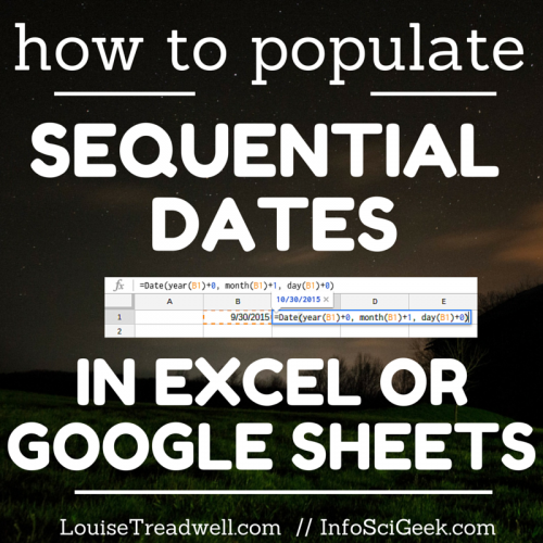 How to populate sequential dates in Excel