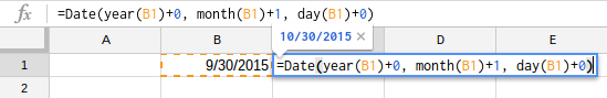 add a date to excel