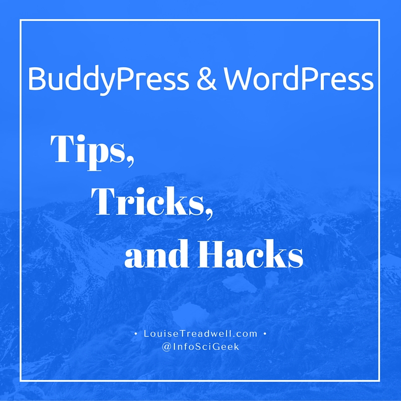 BuddyPress: How to Redirect Upon Logout - Louise Treadwell