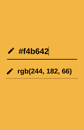 Screenshot of a color block that represents the HEX color code of f4b642.png